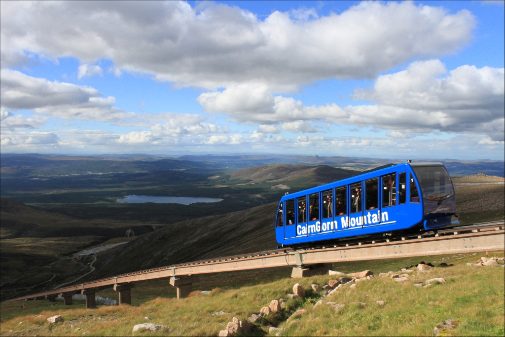 EXPERIENCING THE WONDERS OF CAIRNGORM USING THE FUNICULAR RAILWAY.